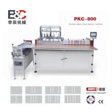 Double station case book cover making machine
