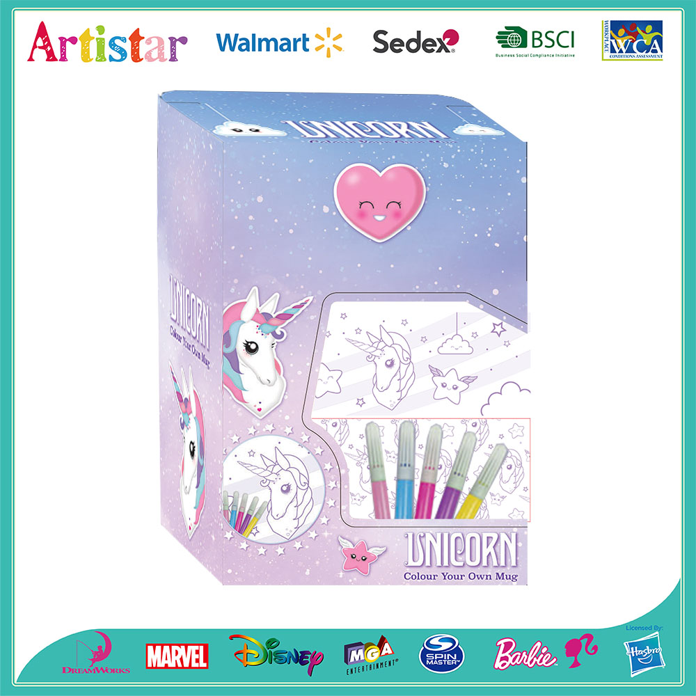 UNICORN color your own unicorn mug