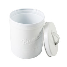 Kitchen Tin Storage Container in White