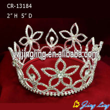 Rhinestone Flower Beauty Queen Crowns For Engagement