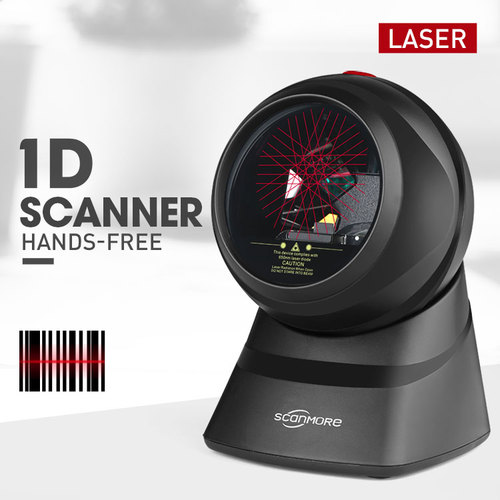 Desktop Wired Omnidirectional Laser 1d Barcode Scanner