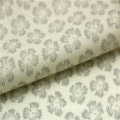 snowflake printed sea island cotton voile fabric