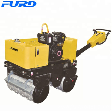 780kg hydraulic double drum soil compactor pedestrian sheeps foot road roller (FYL-G800C)
