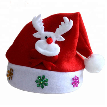 Decoration plush Christmas Santa hat for Children