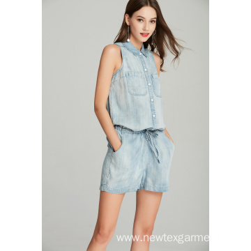 Ladies Tencel Denim Jumpsuit
