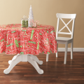 Tablecloth PE with Needle-punched Cotton Christmas Round