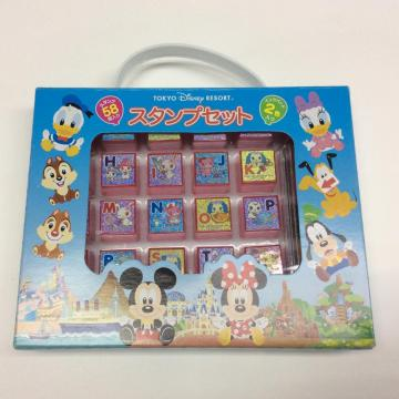 plastic diversified cartoon alphabet stamp set