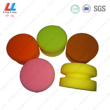 Circle colorful car cleaning sponge