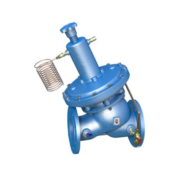 Self-actuated differential pressure control valve DN150