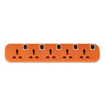 5 outlets universal extension socket