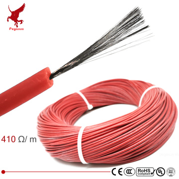 1k 410ohm silicone rubber carbon fiber heating cable 5V-220V floor heating low cost high quality infrared heating wire