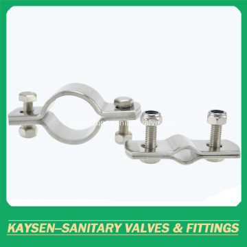 Sanitary pipe holder round