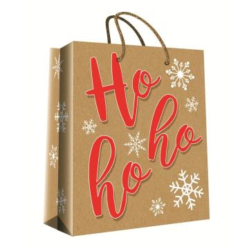 CHRISTMAS SERIES KRAFT GIFTBAG9-0