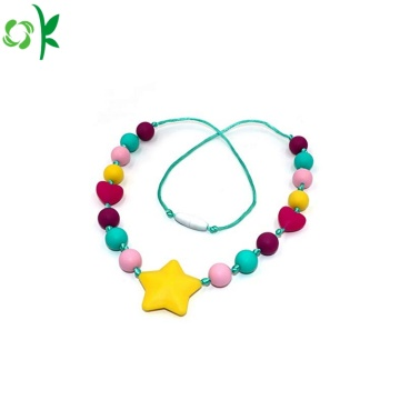 Food Grade Colorful Silicone Necklace Beads Wholesale