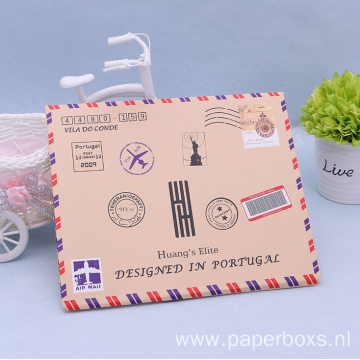 Customized Flat Faux Envelope Stocking Paper Box