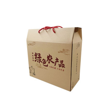 Agricultural products packaging box