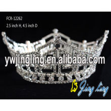 Full Round Rhinestone Pageant Boy Crown For Sale