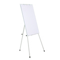 Non-glare adjustable height tripod glass flipchart easel