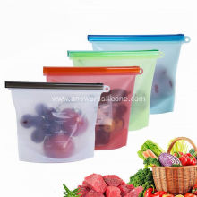 Reusable Silicone Storage Zipper Bag for Fruits Vegetables