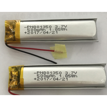 500mAh Polymer Battery For Electric Toothbrush (LP1X5T8)