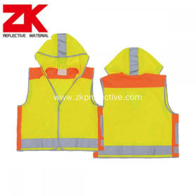 child hi vis reflective work safety vest