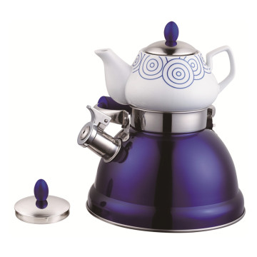 Household Samovar Tea Pot Whistling Kettle-Purple Serious