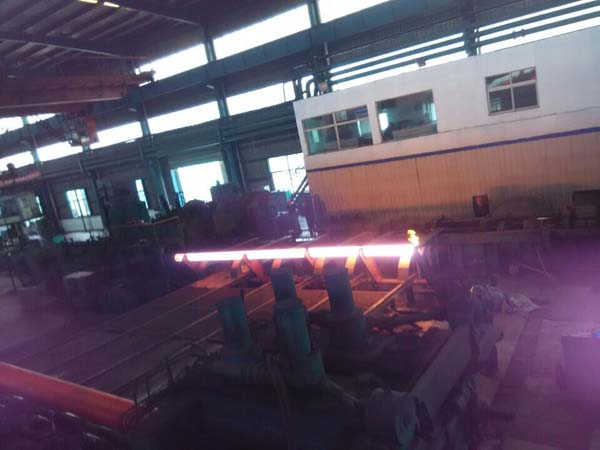 Seamless steel pipe production workshop