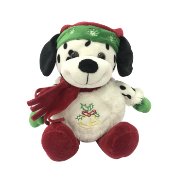 Merry Christmas Spotty Dog Plush