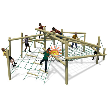 children's rope climbing outdoor structure playground