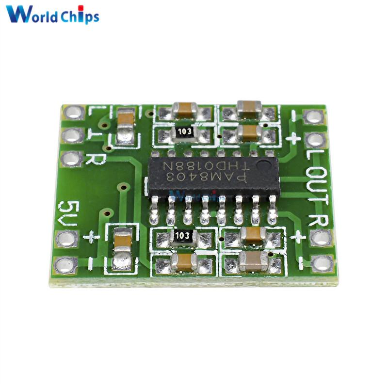 10Pcs/Lot 2.5-5V Miniture Mini Digital Amplifier Board 2x3W PAM8403 Class D Stereo Speaker AMP Module USB Power Supply 2.5 To 5V