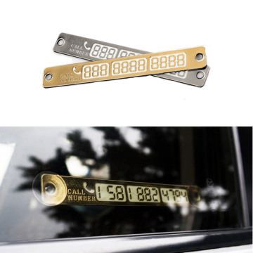 Car Temporary Parking Card Telephone Number Holder Mobile Phone Number Plate Auto Parking Card Car Styling Stickers Accessories