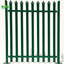 Palisade fence for garden decoration