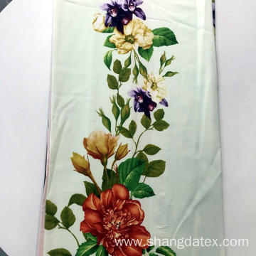 Flower Border Design Rayon Semi-Digital Print For Dress