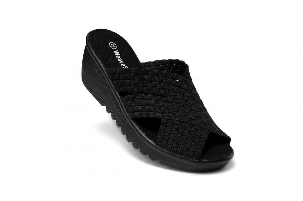 Criss Cross Upper Woven Slippers
