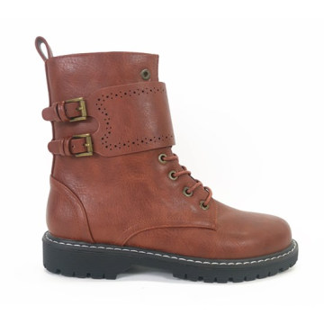 Women's Mid Calf Height  Military Combat Boots