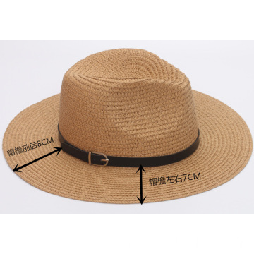 Summer vacation outing bucket hat paper straw hat