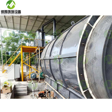 Zhongming Beston Continuous Pyrolysis Process Machine Used to Recycle Plastic