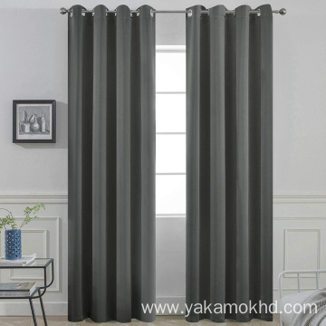 Dark Grey Blackout Curtains