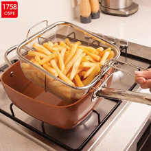 Copper Pan Aluminum Non-stick Coating Casserole set