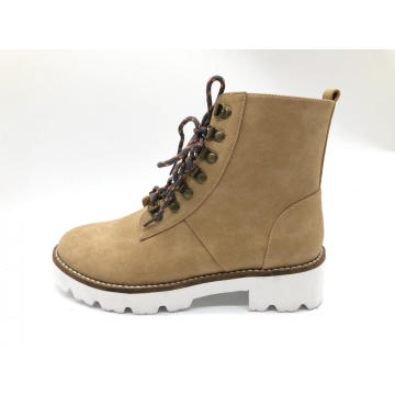 Women's Round Toe Work Combat Boots