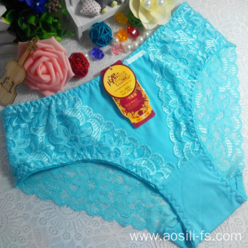 China OEM wholesale new style sky blue sexy lingerie women underwear cotton fancy panty 5832