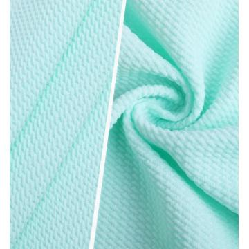 Customized Soft Twill Bubble Knitted Jacquard Cloth Fabrics