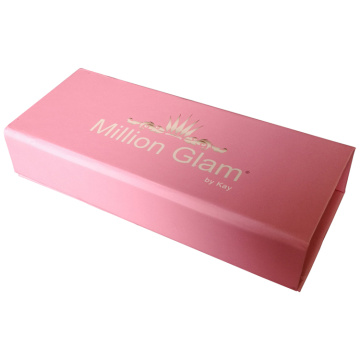 Pink Empty Eyelash Packaging Box Magnetic Private Label