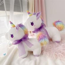 30CM/40CM Beautiful Unicorn Doll, Soft Fabric, PP Cotton Stuffed, Rainbow Colored Sideburns Decoration, Gift for Girls