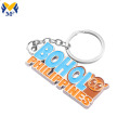 Custom Fashion Metal Die Cut Keychains For Sales