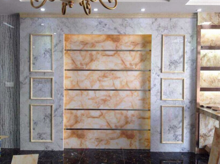 High Glossy PVC Imitation Marble Sheet