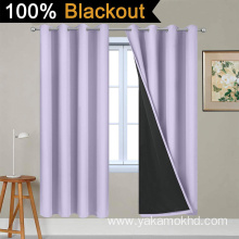 Lilac 100% Blackout Curtains 72 Inch Long