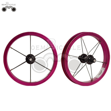 Purple 6061 alloy rim 12H 12inch wheel set