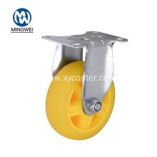 100mm Diameter Yellow Rigid Castor Wheel