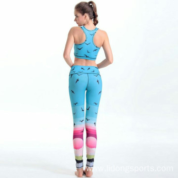 Black And White Stretchable High Waisted Sport Tights